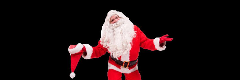 Teatertücke zu Weihnachten mit Weihnachtsmann